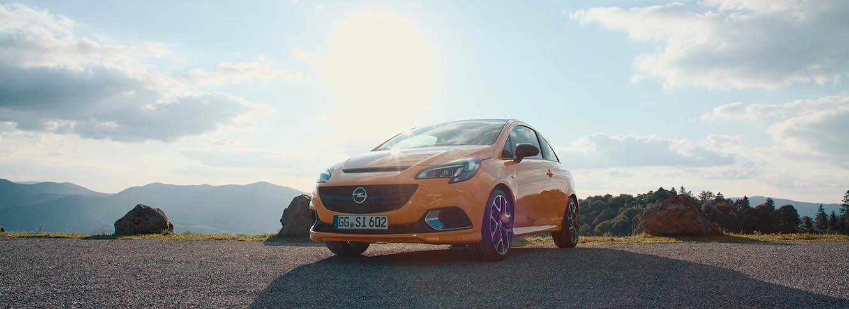 Filmproduktion Opel Corsa GSi Footage Social Media